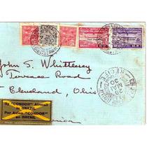 Graf Zeppelin-carta 1º Võo-recife-ee.uu.-selos Z 8 E 9