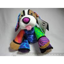 Romero Britto Mini Cão Plush Pelúcia Puppy Romero