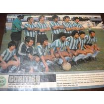 Poster Coritiba Hexa Campeão Paranaense 1976 21x27 Cm Placar
