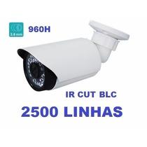 Câmera Infravermelho 50mt 1500 Linhas Hd Ir Cut E Blc+ Fonte