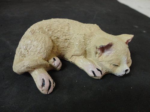 Enfeite De Resina ~ #7676# Enfeite Resina, Gato Dorminhoco!!! R$ 24,00 em Mercado Livre
