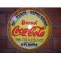 Placa Decoração Coca-cola 40cm