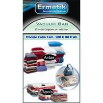 03 Sacos A Vácuo- Vacuum Bag Cubo 100x80x40cm-de R$44,70 Por