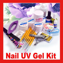 Profissional Combo Kit Completo P/ Unhas Gel Acrigel Uv