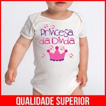Body Bebe Frases Divertidas Princesa Da Dinda Madrinha