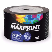 100 Dvd -r Maxprint Mídia Gravável 4.7 Gb 16x #e2wx