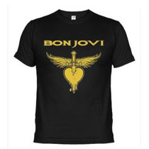 Camiseta Camisa Banda De Rock Bon Jovi, Hard Rock