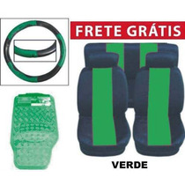 Kit Verde Tapetes Capas De Banco E Volante Frete Grátis