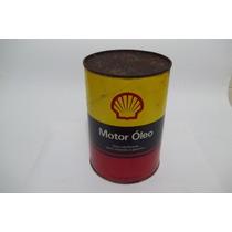 Lata Antiga De Oléo Lubrificante Shell - Lata Papelão Cheia