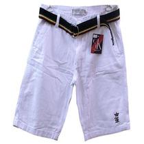 Bermuda Jeans Branca Sergio K