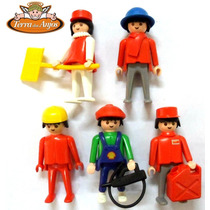 5 Bonecos Playmobil 1974 Diversos
