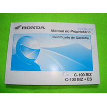 Honda C100 Biz Ano 2002 - Manual Do Proprietário