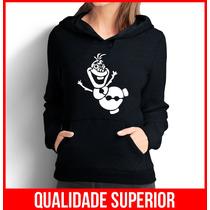 Moletom Olaf Frozen Feminino Casaco Canguru/blusa De Frio