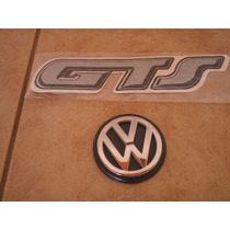Kit Emblema Gol Gts 89 A 94 - Gts Adesivo + Logo Vw