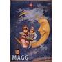 Lua Caldo Maggi Sopa Criança França Antigo Poster Repro