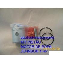 Kit Pistão Motor De Popa Jonhson 4hp Evinrude 4 Hp Omc 4 Hp