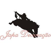 Adesivo Country Decorativo Rodeio Peão Boiadeiro E Cavalos