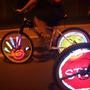Led Roda Bicicleta Com Formas Que Se Mexem Textos Desenhos