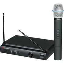 Microfone De Mão Sem Fio Karsect Kru-301 Maxcomp Musical