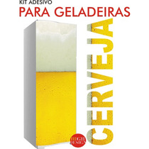 Kit Adesivo Envelopamento Skin Geladeira Cerveja Marcas