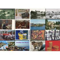 Lote Com 100 Cartões Postais Diferentes Mundo 1950 Até 1990