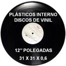 Plástico Interno Para Vinil Lp´s 31x31x0,6 / 100 Unidades