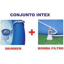 Bomba Filtrante Intex 3785 Lh 110v + Skimmer Luxo Completo