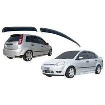 Calha Defletor Chuva Novo Fiesta Hatch E Sedan ( Tgpoli )