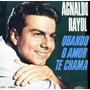 Agnaldo Rayol   -  Quando O Amor Te Chama  -   Lp  1965