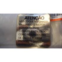 Etiqueta Precaução Chassis Honda Cbx 750 F Indy Envio Grátis
