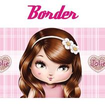 Adesivo De Parede Border Boneca Jolie Rln123