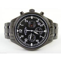 Rotary Swiss Chronograph Black Aço Tenho Invicta Seiko Cit