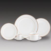 Aparelho De Jantar 42pcs Porcelana - Gold