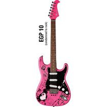 Guitarra Eagle Personalizada Egp10 Rosa