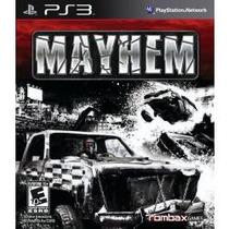 Jogo Pra Ps3 Playstation 3 Mayhem Acompanha Par De Oculos 3d