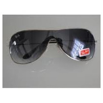 Óculos 3211 Prata Com Lentes Fumê Degradê Frete Grátis