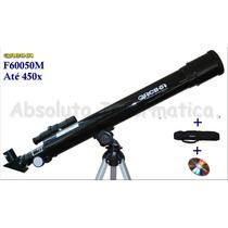 Telescópio Luneta 450x Astronômico E Terrestre + Bolsa E Cd