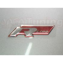 Par Emblema Mod2 Adesivo Resinado R Line Vermelho