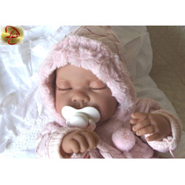 Boneca Bebê Menina Realista Tipo Reborn Inteira Em Vinil