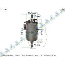 Filtro Combustivel C/ Engate Rapido Strada Siena
