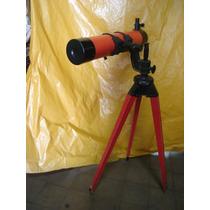 Telescópio Equatorial Newtoriano Refletor Antigo - D.f. Vasc