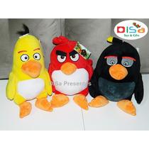 Kit Angry Birds C/ 3 Personagens Pelúcia De 35 Cm Original