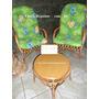 Cadeiras De Vime Jogo De 4 Cadeira+mesa De Vime Para Varanda