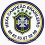 Patch Bordado Tpc075 Flamengo Hexa Campeão Termocola Futebol