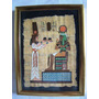 Pintura Egipcia Em Papiro Moldura Em Alum. C/vidro