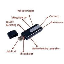 Pen Drive Espião Alta Resolução 8gb Detector Movimento Audio