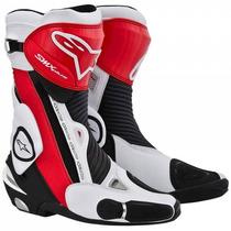Bota Alpinestar Smx-plus Preta/vermelha/branca (modelo Novo)
