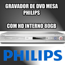 Gravador De Dvd Philips Dvdr3350h Com Hdd Interno 80 Gb
