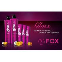 Fox Gloss - Escova Progressiva,semi - Definitiva,100% Liso