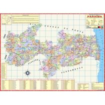 Mapa Geo Político Rodoviário Estado Da Paraíba 1,20 X 0,90m